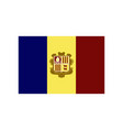 flat icons on theme flag of andorra vector image