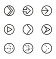 Line arrow circle icons set vector image