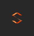 S letter logo idea orange design sign of vector image