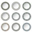 Set of decorative plates vector image