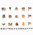 Simple color real estate icon set vector image