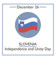 Slovenia Independence and Unity vector image
