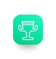 trophy cup line icon reward symbol vector image