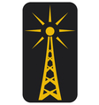 Radio antenna vector image