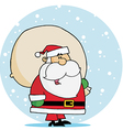 Kris Kringle Carrying A Toy Sack In The Snow vector image vector image