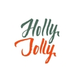 Holly Jolly Merry Christmas Hand Drawn vector image
