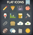 Universal Flat Icons for Applications Set vector image