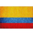 Mosaic Flag of Colombia vector image