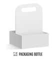 Packaging for bottles vector image vector image