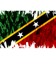 Saint Kitts and Nevis vector image