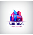abstract building colorful logo icon vector image
