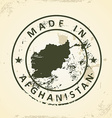 Stamp with map of Afghanistan vector image