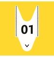 Shopping queue ticket - vector image