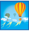 Air Balloons over the mountains vector image