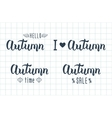 Autumn handwritten set Autumn logos and emblems vector image