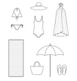 Beach clothes vector image