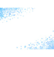Corners with small snowflakes vector image