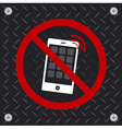 Do not use a mobile phone vector image