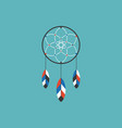 dream catcher of native american icon vector image
