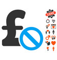 forbidden pound payment icon with lovely bonus vector image