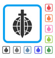 global guard framed icon vector image
