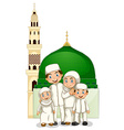 Muslim family vector image