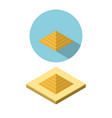 pyramid icon in isometric style vector image