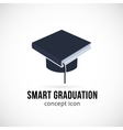 Smart Graduation Concept Icon Symbol or Logo vector image