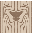 Wood grain stylized as a bird vector image
