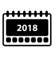 Simple 2018 Calendar icon vector image vector image