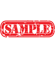 Sample stamp vector image