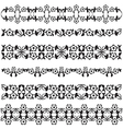 Ottoman motifs black design series of fifty seven vector image