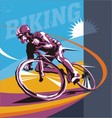 biking  cyclist poster vector image
