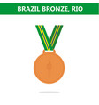 bronze medal brazil rio olympic games 2016 vector image