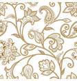 floral pattern seamless oriental arabesque vector image