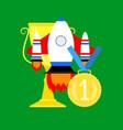 launching rocket startup vector image