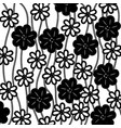 monochrome background of creepers with flowers vector image