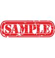 Sample stamp vector image