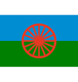 gypsy flag - symbol of nomads vector image vector image