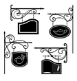 Signboards vector image vector image