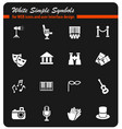theater icon set vector image