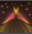 Laser abstract background with stars vector image
