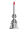 Two-stage rocket on the launch pad vector image