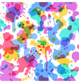 Bright watercolor seamless pattern on white vector image