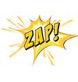 Zap flash on white vector image
