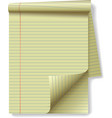 yellow legal pad vector image
