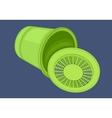 Recycle bin isometric flat vector image