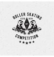 Retro Vintage roller skating Label vector image