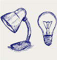 Light bulb sketch vector image vector image