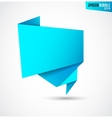 Abstract blue banner isolated on the white vector image